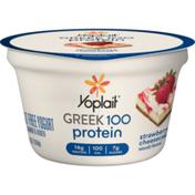 Yoplait Greek 100 Protein Yogurt Strawberry Cheesecake