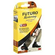 FUTURO Dress Socks, for Men, Firm, Medium, Black