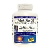 Natural Factors Fish & Flax Oil Dietary Supplement