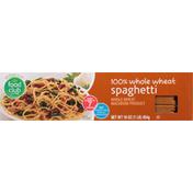 Food Club Spaghetti, 100% Whole Wheat