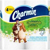 Charmin Chamomile Charmin Plus the Scent of Chamomile Toilet Paper 4 Double Rolls Toilet Tissue