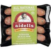 Aidells Ginger Scallion Smoked Chicken Aidells Ginger Scallion Smoked Chicken Sausage