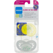 MAM Pacifiers Glows In The Dark Night Collection 6+ Months