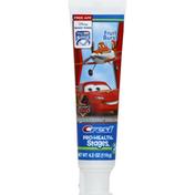 Crest Toothpaste, Fluoride Anticavity, Disney World of Cars, Fruit Burst