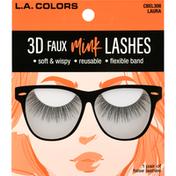 L.A. Colors False Lashes, 3D Faux Mink, Laura