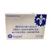 """Kingseal  Assorted Colors 3"""" Frill Pick"""