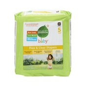 Seventh Generation Diapers, Size 5 (27+ lbs), Chlorine Free