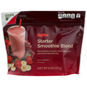 Hy-Vee Starter Smoothie Blend Red Seedless Grapes, Sliced Bananas And Diced Strawberries