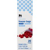 Food Lion Freezer Bags, Reclosable, Quart Size