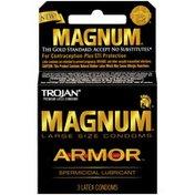 Trojan Large Size Spermicidal Lubricant Condoms Magnum