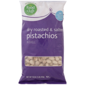 Food Club Dry Roasted & Salted Pistachios In Shell