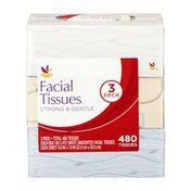 Ahold Facial Tissues Strong & Gentle - 3 PK