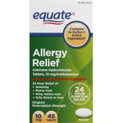 Equate Allergy Relief, Original Prescription Strength, 10 mg, Tablets