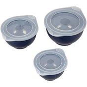 Wilton Navy Blue Covered Bowl Set, 6-Piece