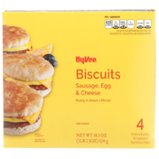Hy-Vee Sausage, Egg & Cheese Biscuits Sandwiches