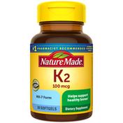 Nature Made Vitamin K2 100 mcg Softgels
