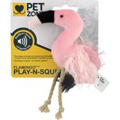 Pet Zone Cat Toy, Play-N-Squeak, RealBird Sound, Flamingo