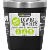 Reduce Tumbler, Low Ball, Black, 10 Ounce