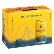 Athletic Brewing Co Beer, Upside Dawn, Non-Alcoholic, Golden, 12 Pack