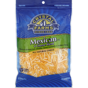 Crystal Farms Shredded Cheese, Mexican Style 4 Cheese Blend