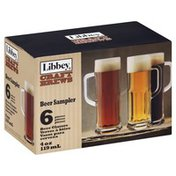 Libbey Beer Glasses, Beer Sampler, 4 oz