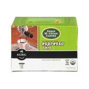 Green Mountain Coffee Keurig Brewed Espresso Blend Extra Bold, Dark Roast K-Cups - 12 PK