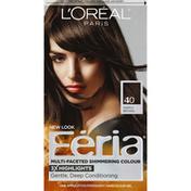 Feria Permanent Hair Colour Gel, Deeply Brown 40