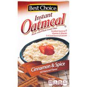 Best Choice Cinnamon & Spice Instant Oatmeal Packets