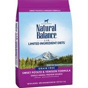 Natural Balance Dog Food, Sweet Potato & Venison Formula, for Adult Dogs