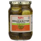 Hy-Vee Bread & Butter No Salt Added Sweet Slices