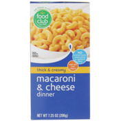 Food Club Thick & Creamy Macaroni & Cheese Dinner