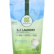 Grab Green Laundry Detergent Pods, 3in1 Fragrance Free