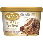 Kemps Simply Crafted Brownie Cookie Dough Delight Premium Ice Cream