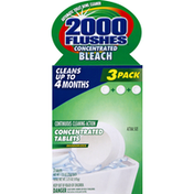 2000 Flushes Toilet Bowl Cleaner, Bleach, Concentrated, 3 Pack