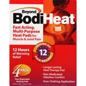Beyond BodiHeat Heat Pads, Fast Acting, Multi-Purpose, 4 Pack