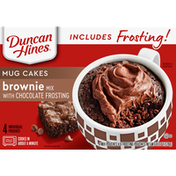 Duncan Hines Mug Cakes, Brownie Mix with Chocolate Frosting
