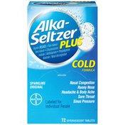 Alka-Seltzer Plus Sparkling Original Effervescent Tablets Cold