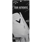 Callaway Tour Authentic Golf Glove - Regular - M - White - Left Hand