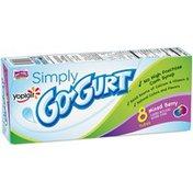 Yoplait Simply...Go-Gurt Mixed Berry Portable Low Fat Yogurt