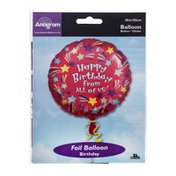 """Anagram Foil Balloon 18"""" Happy Birthday From All Of Us!"""