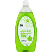 Food Lion Dish Liquid, Concentrated, Ultra Dish Detergent, Green Apple Scent, Bottle