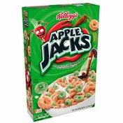 Kellogg's Apple Jacks Breakfast Cereal, Original, With Apple and Cinnamon, Good Source of Fiber