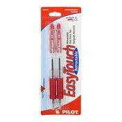 Pilot EasyTouch Retractable Ball Point Pen Medium/Red - 2 CT
