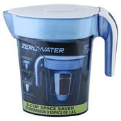 Zero Water Filtration Pitcher, Space Saver, 6-Cup