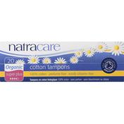 Natracare Tampons, Cotton, Organic, Super Plus
