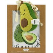 Mud Pie Crawler & Rattle Set, Avocado, 0-6 Months