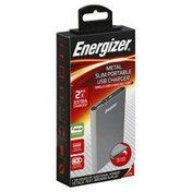 Energizer USB Charger, Slim Portable, Metal