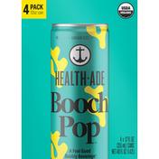 Health-Ade Booch Pop, Ginger Fizz, 4 Pack