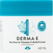 DERMA E Relief Cream, Tea Tree & Vitamin E