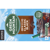 Green Mountain Coffee Roasters Coffee, Brew Over Ice, Classic Black, K-Cup Pod